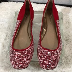 BCBGENERATION red silver sparkly flats